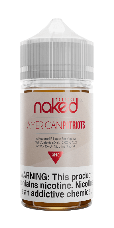 AMERICAN TOBACCO/AMERICAN PATRIOTS E-LIQUID BY NAKED100 - 60ML