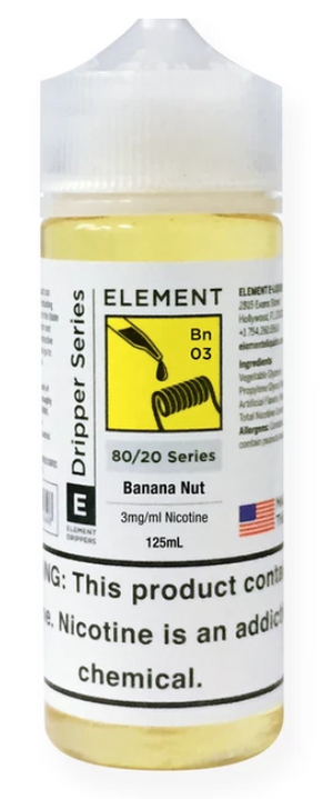ELEMENTS BANANA NUT DRIPPER E-LIQUID - 125ML