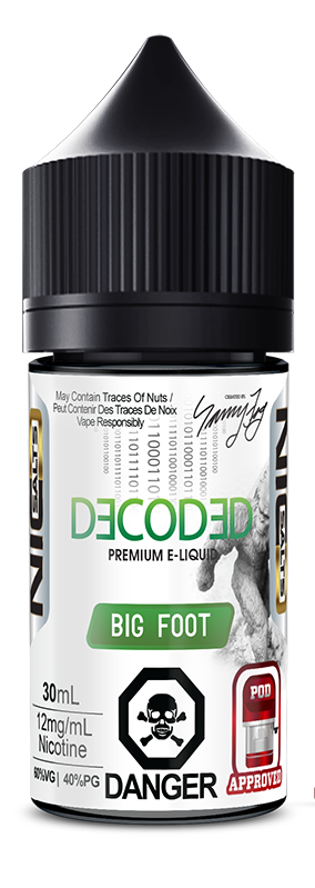 BIG FOOT SALT NIC BY DECODED - 30ML