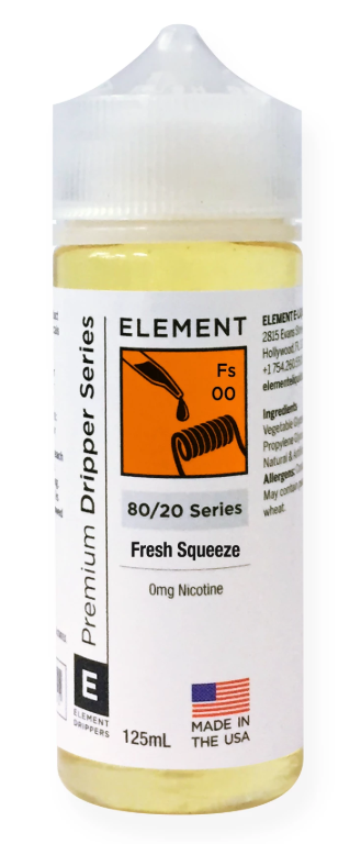 ELEMENTS FRESH SQUEEZE DRIPPER E-LIQUID - 125ML