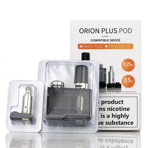 LOST VAPE ORION PLUS REPLACEMENT POD - INCLUDES 0.25 MESH AND 0.5 COILS