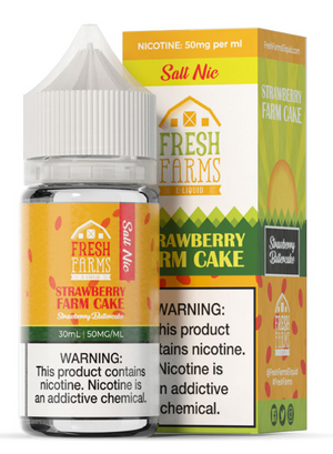 FRESH FARMS STRAWBERRY FARM CAKE SALT NIC - 30ML