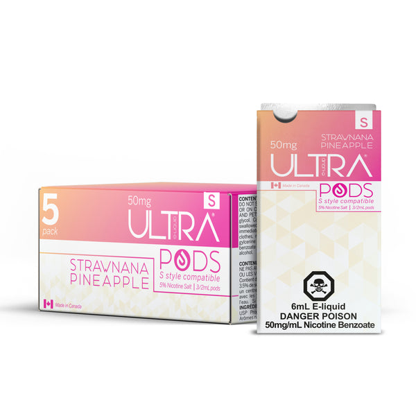 ULTRA S PODS STRAWNANA PINEAPPLE (STLTH COMPATIBLE) - 3 PACK