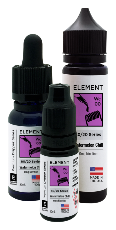 ELEMENTS WATERMELON CHILL E-LIQUID - 60ML