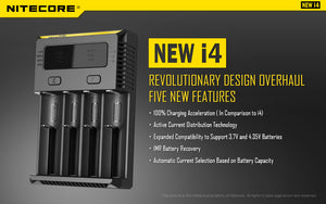 Nitecore Intelli I4 - 4 Bay Charger - LifestylE Cig Eliquids