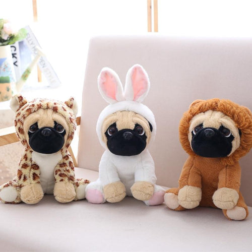 Pug plushies - with outfits - AngryShibas