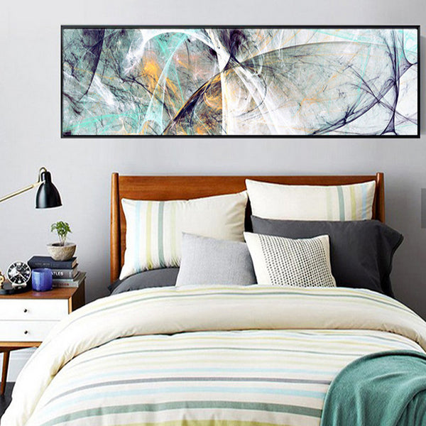 Modern Abstract Psychedelic Line Bedside Painting