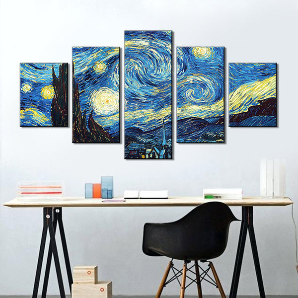 High Definition Micro-Spray Canvas Sky Patterns Decorative Painting
