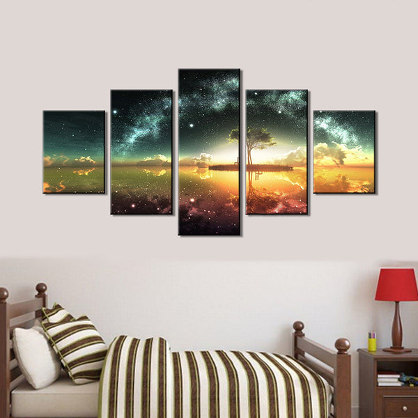 Wall Canvas Painting Canvas for Home Shop Bar Decor 5 PCS