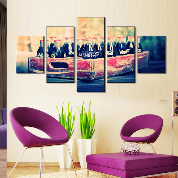 New Canvas Decoration Five Painting Cores Scenic Hotel Decorative Spray Canvas Painting