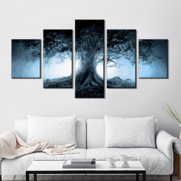 Canvas Decoration Five Painting Cores Scenic Hotel Decorative Spray Canvas Painting