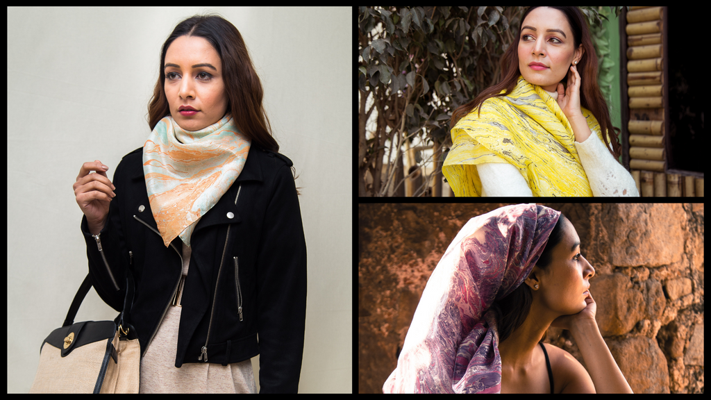 Image - Different ways to style a silk scarf