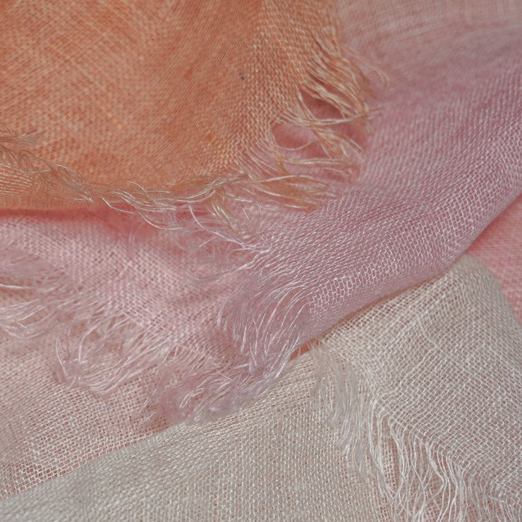 Azalea Scarf Pink With Shades Of Peach And White