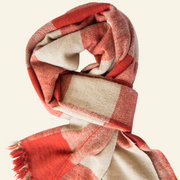 Valentine Red Check Block Cashmere Scarf