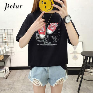 Our Latest Jielur Summer New Shoes Printed T Shirt!