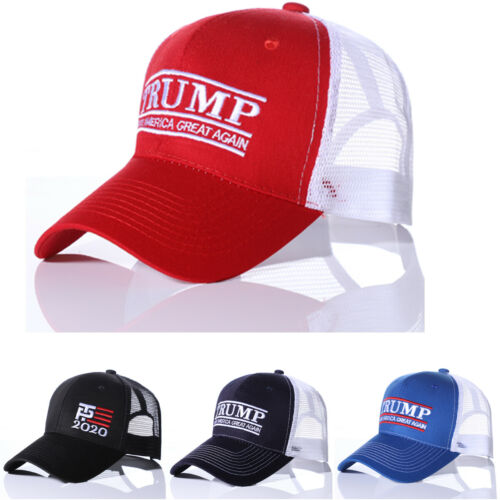 New Fashion unisex casual Trump 2020 Embroidery adult Campaign Hat US Baseball Cap Hats letters adjustable mesh Breathable hats