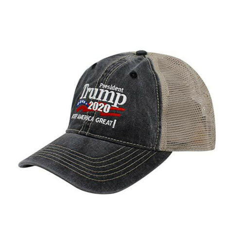 Trump KEEP AMERICA GREAT Unisex summer leisure vintage baseball caps mesh hip hop cap trucker motor racing hats 2019 New Arrival