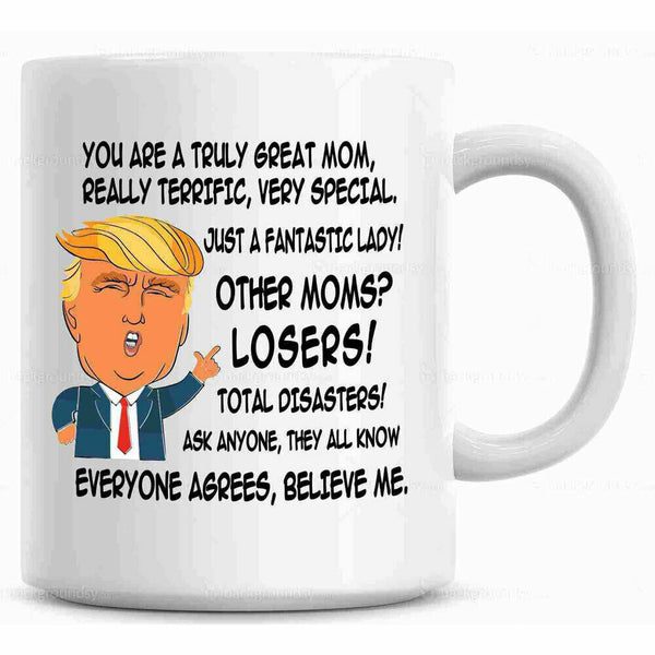 New Funny Donald Trump Great Dad Coffee Mug Daddy Gift For Dad Cup Fathers Day
