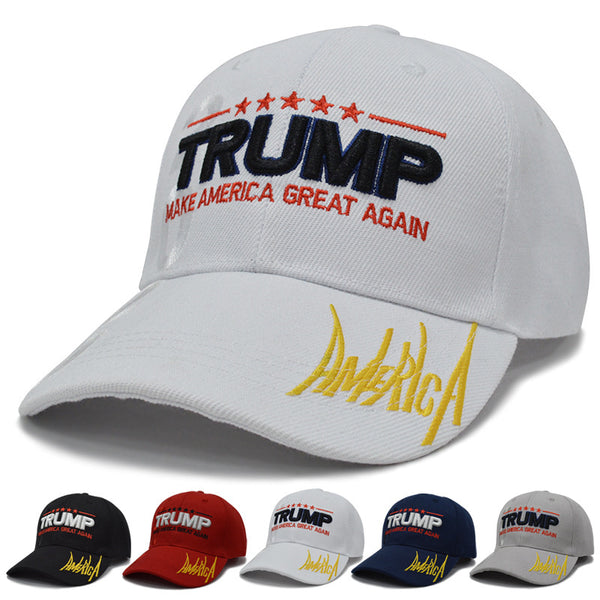 2019 New Trump Hat Trump2020 embroidery Baseball Cap Outdoor Fashion Casual Hats 100%cotton Adjustable visor caps