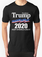 President Trump 2020 Keep America Great Men's T-Shirts Black