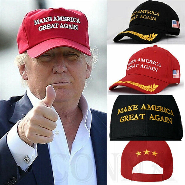 President Donald Trump Make America Great Again Hat Republican Adjustable Cap Unisex Casual Solid Red