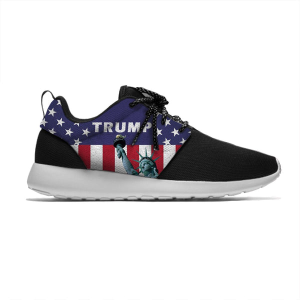 Statue of Liberty Lightweight Sport Shoes Breathable Casual Sneakers Men/Women USA Flag Trump Running Meshy Shoes