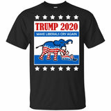 Trump 2020 Make Liberals Cry Again Shirt Political President Elections Vote 2019 Flash Cotton  Slim Fit Crew Neck Casual Shirt