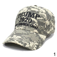Camouflage Baseball Cap Embroidery Trump 2020 Snapback Hats Men Women Unisex Sport Camo Army Caps Gorras