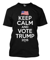 2018 Summer Casual Man T Shirt Keep Calm And Vote Trump 2016 Men's T-shirt Printed T Shirts Men's Streetwear