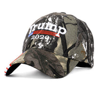2020 Donald Trump Hat Re-Election Cotton Baseball cap Make America Great Again Embroidery USA Flag Outdoor Camouflage