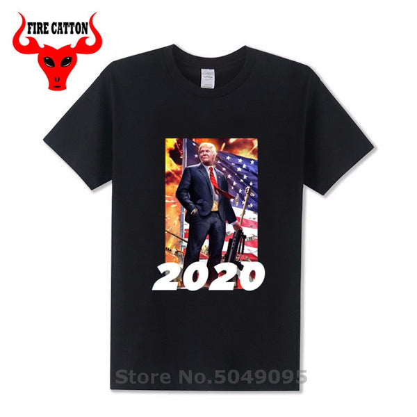 Trump 2020 graphic design T shirt Re-election advertising poster T-shirt President election Tshirt Cheap made in China free ship