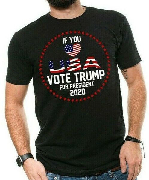 Donald Trump President T-shirt Funny 2020 Election Love USA Vote For Trump Shirt Unisex Loose Fit Tee Tshirt