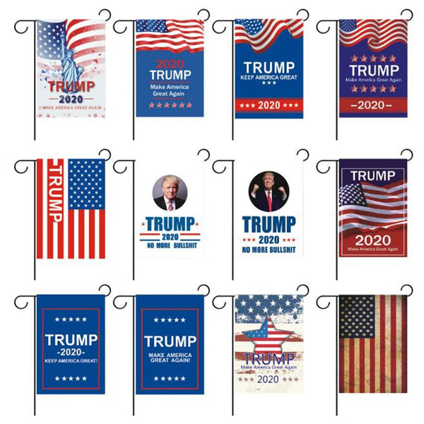30x45cm Donald Trump President 2020 re-election flags Make American great again home garden decoration flag LG1370