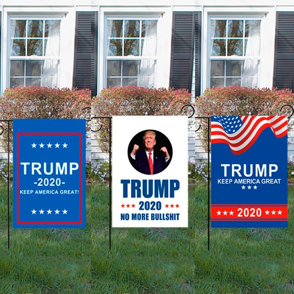 12*18inch Trump FLAG 2020 Trump Garden Flag For President Make America Great Again Outdoor Garden Decoration Election Support B4