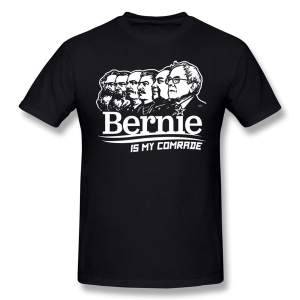 Stalin T Shirt Bernie Sanders Is My Comrade T-Shirt 100 Cotton Summer Tee Shirt Men Cute XXX Short-Sleeve Printed Tshirt