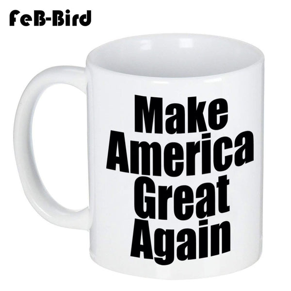 Make America Great Again Mug Coffee Cup for Tea Milk Beer, A Gift for Fans of Donald Trump