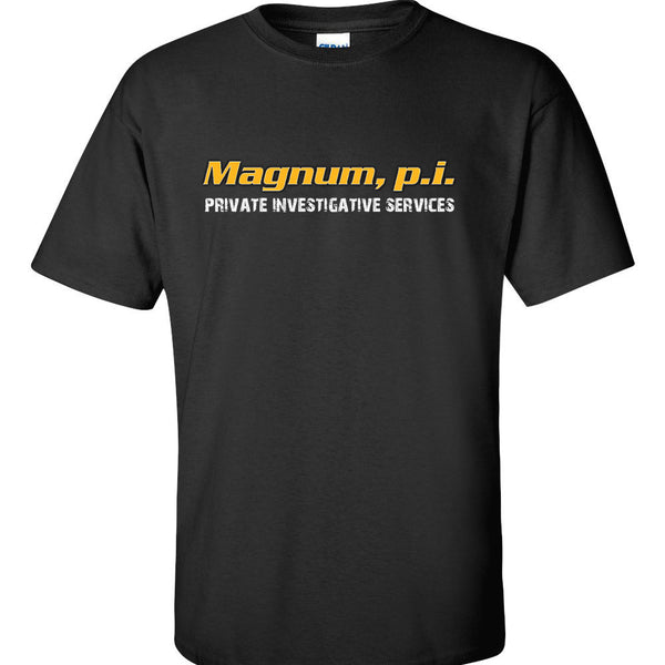 Magnum, PI T-Shirt Tom Selleck Retro Vintage Magnum, PI TV Show 80's Retro T Shirt Tops Summer Cool Funny Plus Size Top Tee