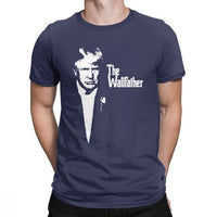 Trump The Wallfather Man's T Shirt Vintage Purified Cotton Short Sleeves Tees Crewneck T-Shirt Large Size Tops