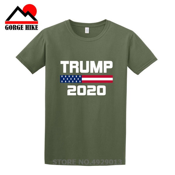2019 Creative American Flag Keep America Great Donald Trump For President USA 2020 Republican T Shirt For Men O-Neck T-Shirt Tee