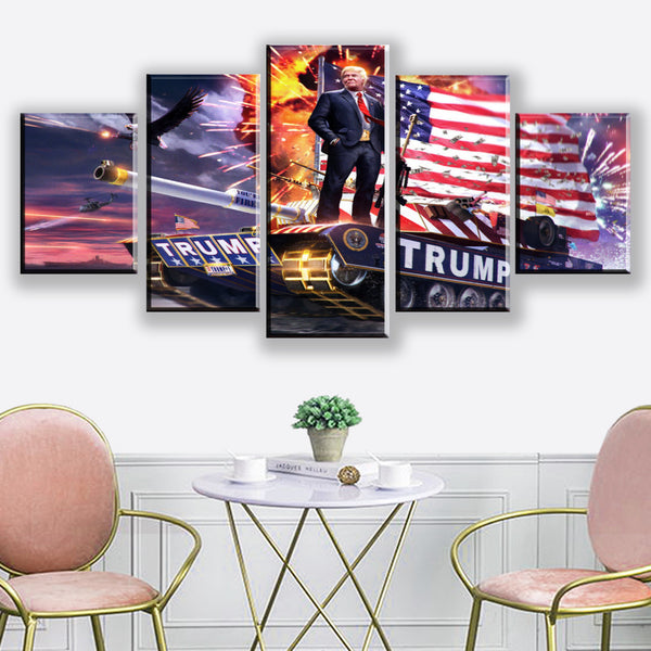 5 Pieces American Donald Trump Poster Modern Home Wall Decor Canvas Picture Art HD Print Painting On Canvas For Living Room