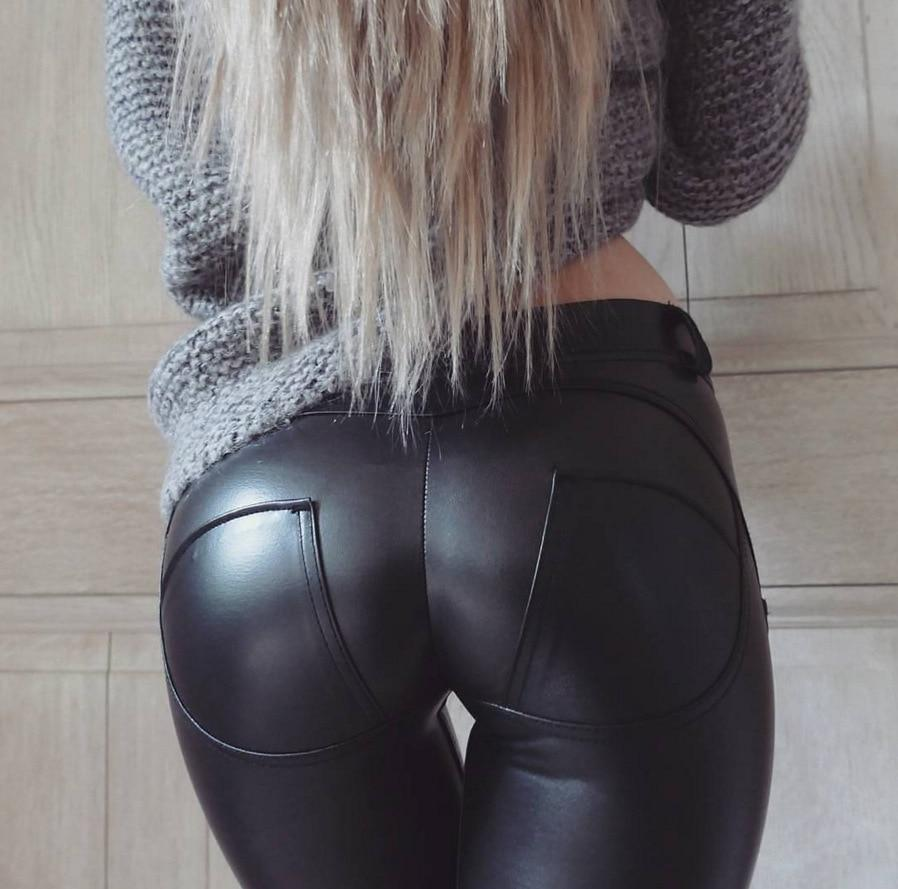 Legging Simili Cuir Push up