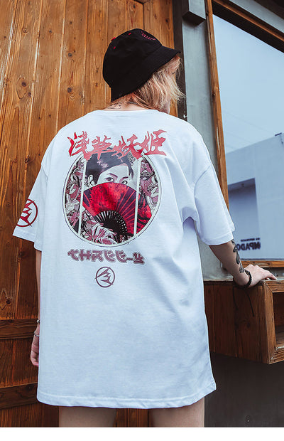 Street Wear T-Shirt Geisha | Japan Urban Wear - iONiQ SHOP