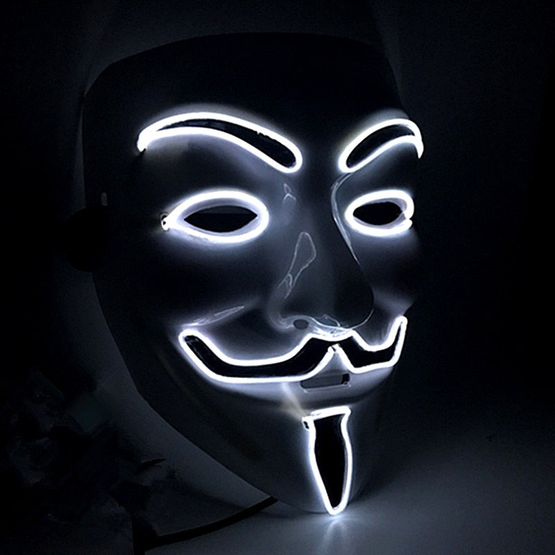 Masque LED Vendetta- Glowing Mask Anonymous | IONIQ SHOP - iONiQ SHOP