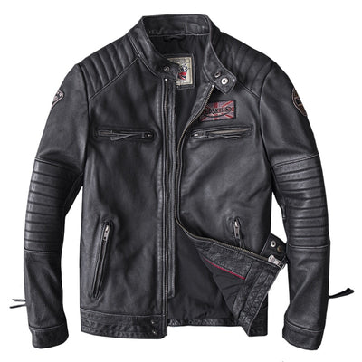 Veste en Cuir Motard édition Redskins - iONiQ SHOP