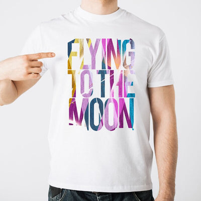T-Shirt Flying to the Moon - iONiQ SHOP