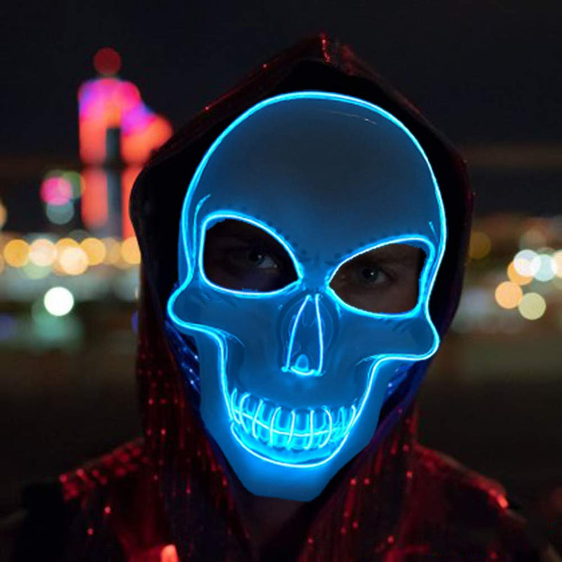 Masque LED Halloween - Halloween Skeleton Mask | IONIQ SHOP