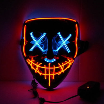 Masque LED Halloween BiColors - Glowing Mask LED | IONIQ SHOP - iONiQ SHOP