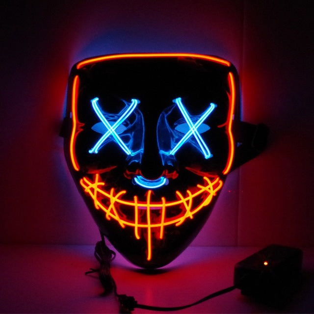 Masque LED Halloween BiColors - Glowing Mask LED | IONIQ SHOP