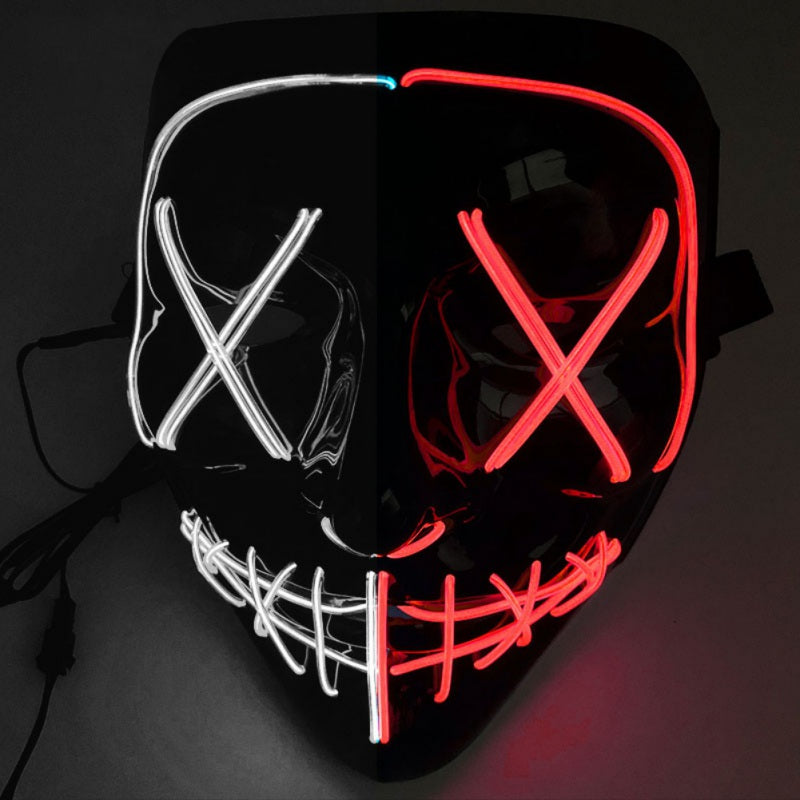 Masque LED Halloween BiColor - Glowing Mask LED | IONIQ SHOP - iONiQ SHOP