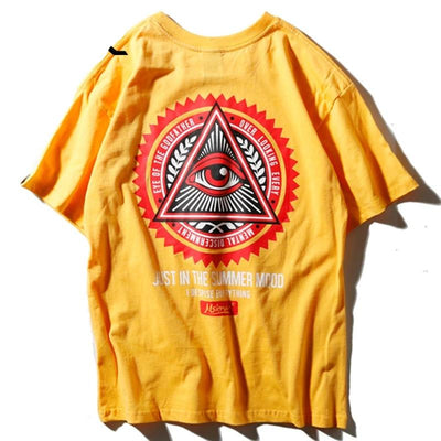 Street Wear T-Shirt Illuminati | Japan Urban Wear - iONiQ SHOP